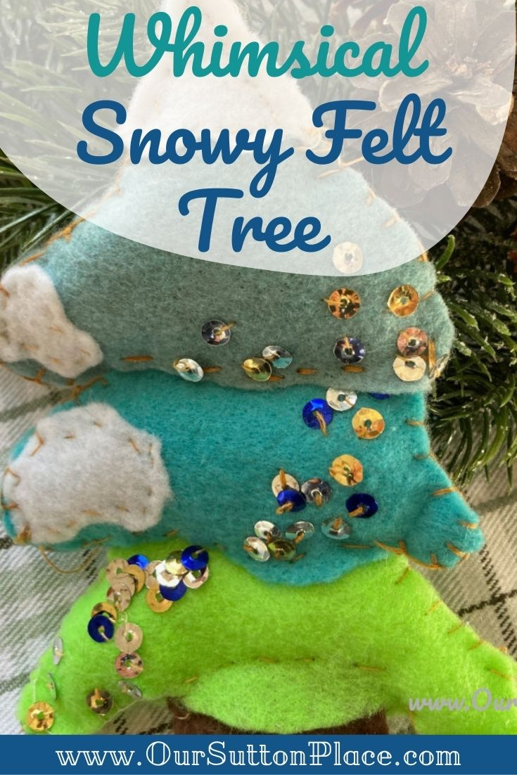 Title Card with Felt snowy tree