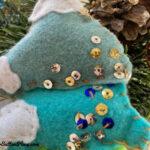 closeup of sequins