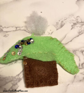 felt trunk with stuffing
