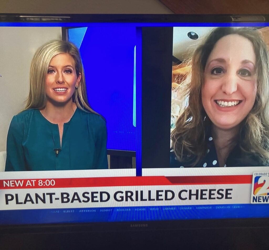 Shana on KWGN for Plant Based Grilled Cheese