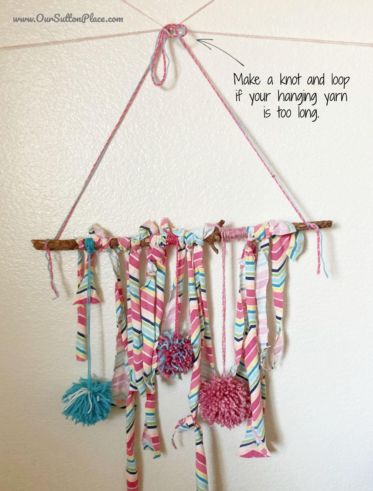 wall hanging tying tip
