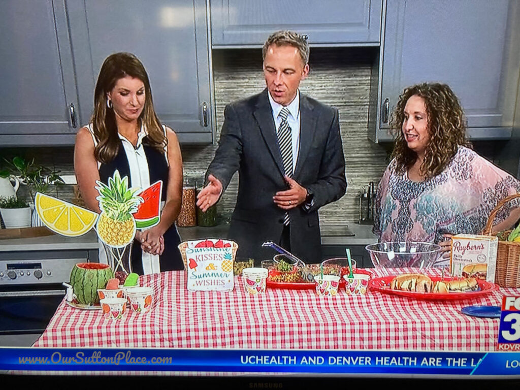 Shana on-air Fox 31 talking about watermelon mint lemonade