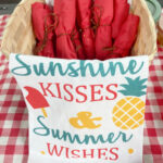 Basket of cutlery wrapped in red paper napkins
